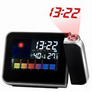 Digital Projector Alarm CLOCK with weather Temperature