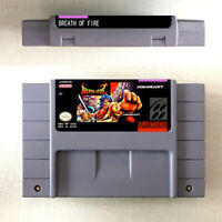 New Breath Of Fire Game Card Console US Version For Nintendo SNES 16 Bit English