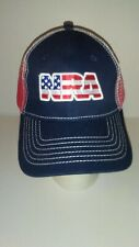 Nra National Rifle Association American Flag Stars & Stripes Mesh Hat Cap Nwot