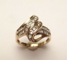 10k SOLID YELLOW GOLD DIAMOND PAVE COCKTAIL BEAUTIFUL RING SIZE 7
