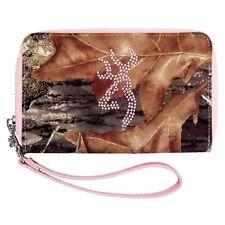 Browning Mossy Oak Pink Bling Wallet Wristlet - Camouflage