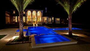RGB 252LED Swimming Pool Spa Light Lamp Underwater 18W AC12V Epoxy Resin Filled