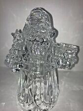 Vintage Imperial 24% Crystal Santa Candle Holder, Great Hostess Gift!