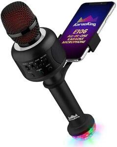 Wireless Karaoke Machine Microphone Wireless Bluetooth Kids & Adults Disco Light
