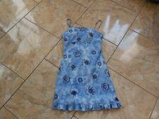 EB542 Pimkie Sommer Stretch Träger Blumen Kleid  Kleid S Blautöne weiss    Geblü