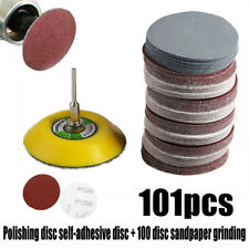 "100pcs 3"" 75mm Sanding Disc Pad Abrasive Sand Paper Hook Loop Sander Backer"
