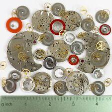 75 Grams Watch Parts Wheels Gears Springs Steampunk Altered Art Watchmaker Lot
