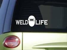 "Weld Life Mask Sticker *I820* 8"" length Vinyl welding decal"
