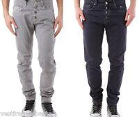 Jeans Uomo Pantaloni ABSOLUT JOY C249 Gamba Dritta Nero Grigio Tg L