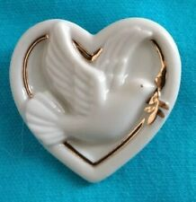 Lenox White Dove of Peace Pin