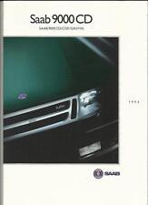 SAAB 9000 CD, CDE, GRIFFIN SALES BROCHURE 1993