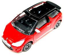 Citroen DS3 Cabrio Convertable Model Car Red New + Genuine AMC19113