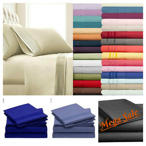 Fitted Bed Sets Flat Sheets 1900 Series 14 Deep Pocket Wrinkl Free Hyperallergic
