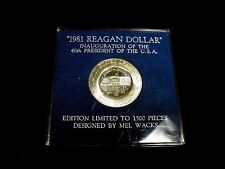 """1981 REAGAN DOLLAR"" by Mel Wacks 40% Silver Ike LIMITED ONLY 1,500 Made WOW!!"