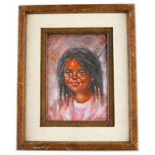 """""""Dimples"""" By Anthony Sidoni 1996 Signed Framed Oil Painting 11""""x9"""""""