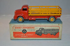 Dinky Toys 531 Leyland Comet Lorry excellent plus in box all original rare color