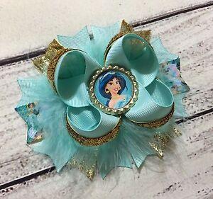 Princess Jasmine Stacked Boutique Hair Bow Handmade