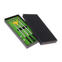 Desktop Golf Pen Ballpoint Pens with Mini Putter Putting Green Flag Ball