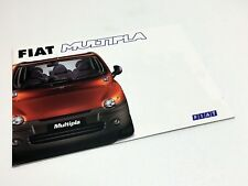 1999 2000 Fiat Multipla Brochure - UK Market