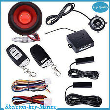 Car SUV Alarm System Keyless Entry & Engine Ignition Push Starter Button Set New