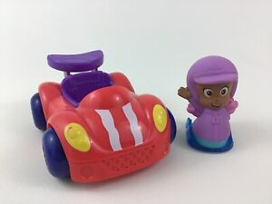 Bubble Guppies Molly Race Car Driver Toy Figure 2pc Lot Fisher Price 2012