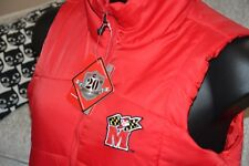 Womens Jacket MARYLAND TERRAPINS Terps Red Padded Sleeveless Body Warmer L NEW