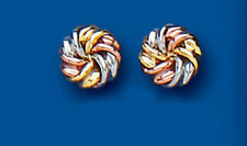 Pendientes de joyería de metales preciosos sin piedras de oro de tres colores