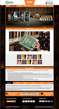 2017 eBay Book Store HTML CSS Listing Template Mobile Friendly Responsive