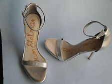 NEW Sam Edelman Patti Metallic Leather Banded Ankle Strap Dress Sandals 10.5
