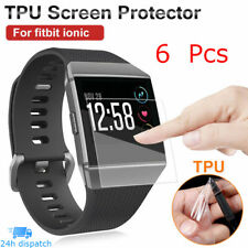 6pcs Clear Full Face Coverage TPU Film Screen Protector Cover For Fitbit Ionic