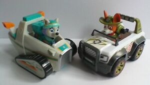 Paw Patrol Everest Snowmobile Vehicle & Pup Tracker Jungle Vehicle & Pup