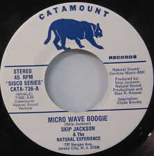 "SKIP JACKSON Micro Wave Boogie CATAMOUNT 45 ORIG1979 soul disco 7"" STONE MINT"