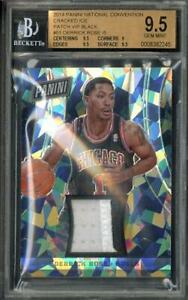2014 National Convention Derrick Rose Cracked Ice Patch VIP Black /5 BGS 9.5 #51