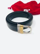 MONTBLANC *MST* Leder Riemen + Gürtel 125 x 3 cm Belts schwarz NP:325€ -2560