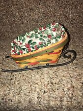 Longaberger Brand New Santa Little Sleigh Basket Complete Set