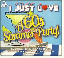 I JUST LOVE A 60s SUMMER PARTY - 3 CD BOX SET - STEVIE WONDER & MORE