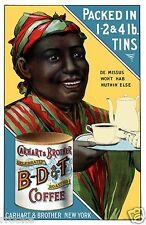 Vintage Carhart Coffee Ad Advertisement Black Americana Poster Fine Art Print