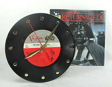 """STAR WARS Record Clock 7"""" - Return Of The JEDI with Story Book - Recycled Record"""