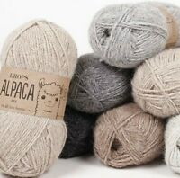 Pure Alpaca Wool Yarn Drops ALPACA, 59 colors, in 50 g balls - 167 m per ball