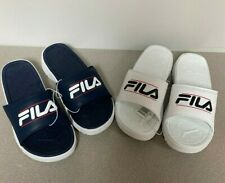 FILA Ladies Sandals Beach Pool Flip Flops - Navy Blue Or White - Choose Size