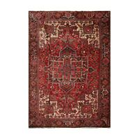"9'8"" x 12'8"" Hand Knotted 100% Wool Herizz Traditional Oriental Area Rug Red"