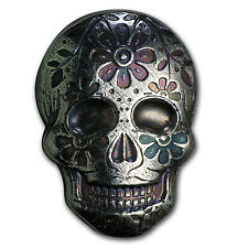 2 oz Silver Skull - Monarch Precious Metals (Day of the Dead) - SKU #104489