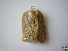 Opaker Natur Bernstein Anhänger Weiß/Grün  5,1 g Genuine Amber
