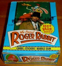 Disney's Who Framed Roger Rabbit Topps Box of Movie Cards + Stickers Bob Hoskins