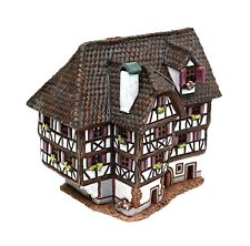 Keramik Teelichthaus Lichterhaus Teelichthalter Hotel Obernai Elsas 14 cm 40560