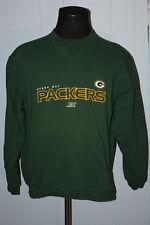 Reebok Green Bay Packers Embroidered Script Crewneck Sweatshirt M