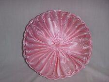 "Vtg Mid Century Pintucked Pleated Tucked Pink Throw Pillow Cushion 11"""