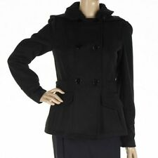 Celebrity Pink Black Coat Long Sleeves Solid Warm Casual (without Hoodie)Size XS