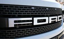FORD F-150 SVT  2010-2014 RAPTOR MATT BRUSHED EMBLEM GRILLE LETTERS DEFENDERWORX