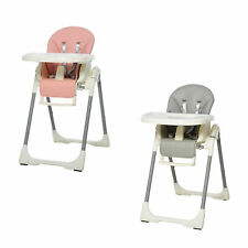 Foldable Baby High Chair/Toddler Chair Height Back Footrest Adjustable